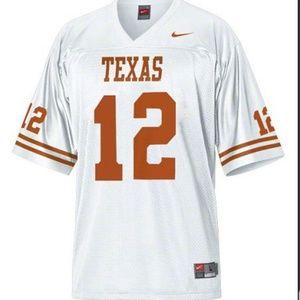 Nike Texas Longhorns #12 white Jersey